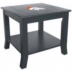 Denver Broncos NFL Hardwood Side/End Table