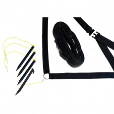 "Park & Sun 2"" Black Outdoor Volleyball Boundary Kit"