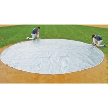 FieldSaver 30' diameter Home Plate Cover, WOVEN POLY