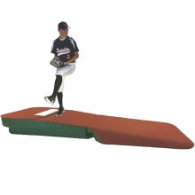 "Portolite 10""Hx8'6""Lx4'W Outdoor/Indoor Practice Pitching Mound, Clay"