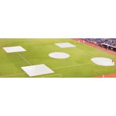 FieldSaver Spot Field Cover, Complete Baseball/Softball Infield Kit, WOVEN POLY