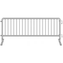 """Crowdstopper 8'6""""L Crowd Control Steel Barricade w/ Flat Foot"""