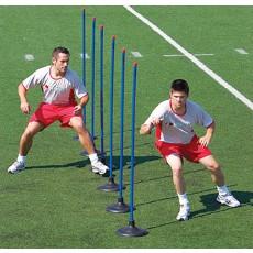 Kwik Goal 16B22 Premier Coaching Sticks w/ Rubber Bases, set of 6