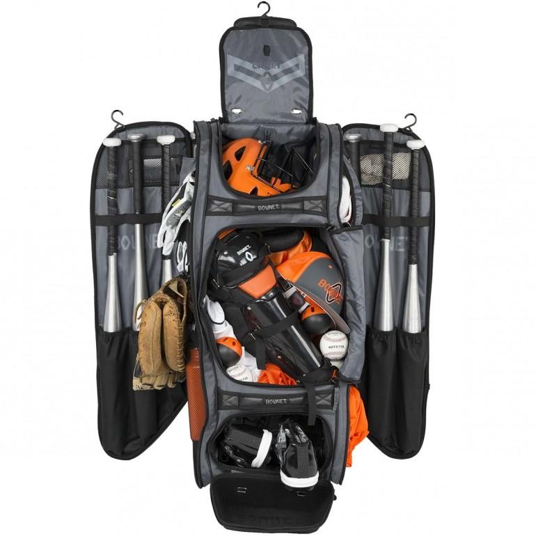Bownet Commander Baseball//Softball Wheeled Catcher/'s Equipment Bag BN-COMMANDER