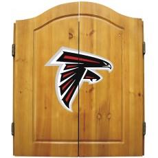 Atlanta Falcons NFL Dartboard Cabinet Set