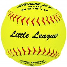 "Dudley 12"", 4L113Y 47/375 Fastpitch Little League Leather Softballs, dz"