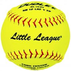 "Dudley 4L113Y 12"", 47/375 Fastpitch Little League Leather Softballs, dz"