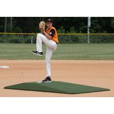 "Proper Pitch 9'Lx5'4""Wx6""H Tapered Game Mound Junior, Green"