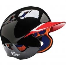 Custom Schutt AiR-4.2 BB Baseball Batting Helmet, 2-COLOR PAINTED, JR & SR