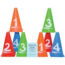 Tennis Court Number Cones, Set of 8