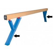 Spieth Balance Beam Bent Leg Upright Pads, pair