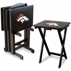 Denver Broncos NFL TV Snack Tray/Table Set