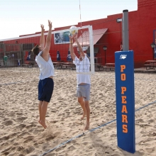 Bison Match Point Outdoor Competition Sand Volleyball Net System