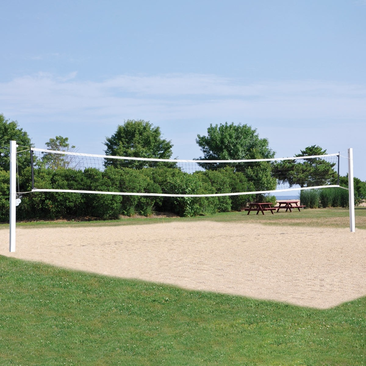 Jaypro Coastal Outdoor Competition Volleyball Net System