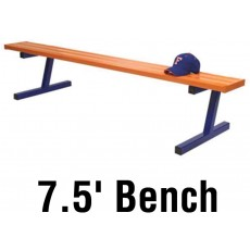 Jaypro 7.5' PORTABLE Aluminum Player Bench, Powder Coated, PB-75PC