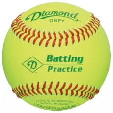 Diamond DBPY Yellow Batting Practice Baseballs, dz