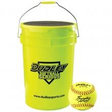 Dudley Bucket with 1dz WT12YFP NFHS Fastpitch Softballs