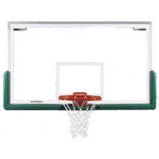 "Porter 00208-00 Center-Strut Rectangular Glass Basketball Backboard, 42"" x 72"""