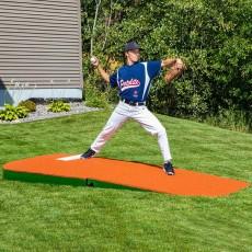 "Portolite 10""Hx8'6""Lx4'W Outdoor/Indoor Practice Pitching Mound, Clay"