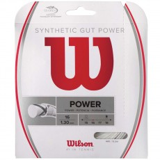 Wilson Synthetic Gut Power 16/1.30mm Tennis String, 40'