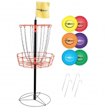 Park & Sun Portable Disc Golf Basket And Disc Set