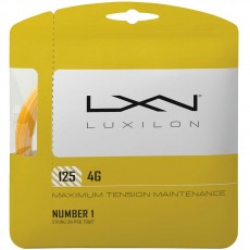 Luxilon 4G 16L/1.25mm Tennis String, Gold, 40'