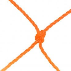 Jaypro 8'x24'x0'x8' 2.5mm Soccer Net, Orange
