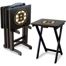 Boston Bruins NHL TV Snack Tray/Table Set