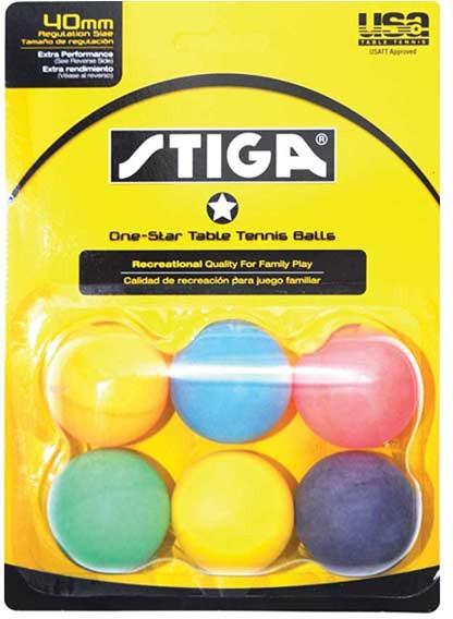 Stiga 1 star table tennis balls multi color 6 pack for 1 star table tennis balls