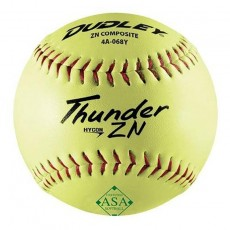 "Dudley 12"" Thunder ZN 52/300 ASA Slowpitch Composite Softballs, dz"