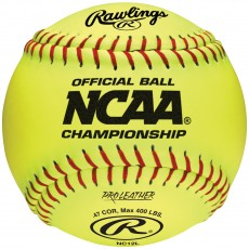 "Rawlings 12"" NC12L NCAA Championship 47/400 Leather Fastpitch Softballs, dz"