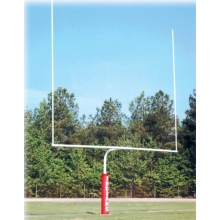Bison Official High School Football Goal Posts, 4-1/2'' dia, WHITE, FB45HS-WT