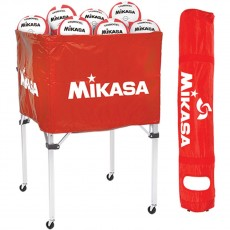 Mikasa BCSPSH Volleyball Cart, RED