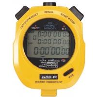 Ultrak 495 100 Lap Memory Stopwatch, YELLOW