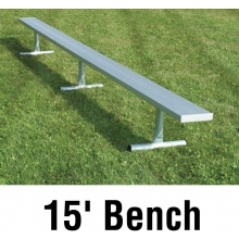 National Rec 15' PORTABLE Aluminum Team Player Bench