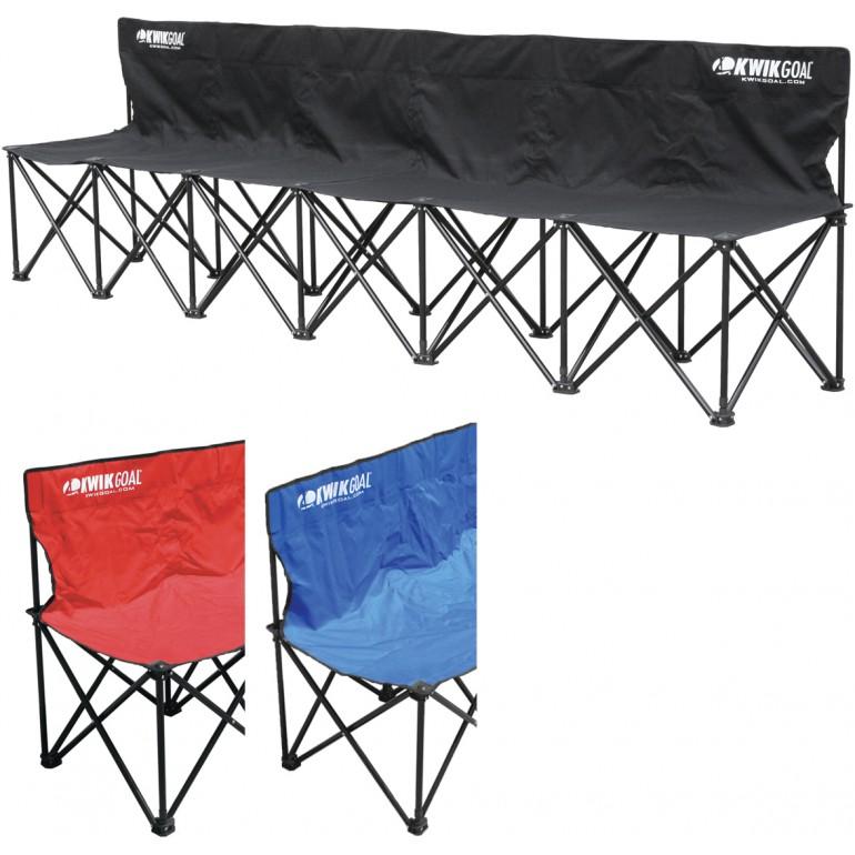 Pleasant Kwik Goal 6 Seat Kwik Bench Folding Soccer Bench 9B906 Dailytribune Chair Design For Home Dailytribuneorg