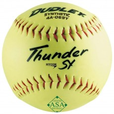 "Dudley 12"" Thunder SY 52/300 ASA Slowpitch Synthetic Softballs, dz"