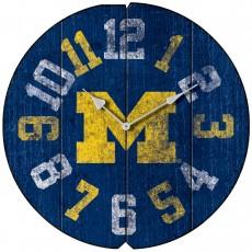 Vintage Round Clock, University of Michigan, Wolverines
