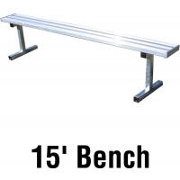 Jaypro PB-15 Aluminum Player Bench, PORTABLE, 15'