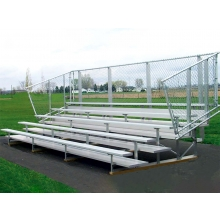 5 Row, 21' Portable PREFERRED Aluminum Bleacher w/ Chain Link