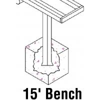 Jaypro PB-20PI Aluminum Player Bench w/ Backrest, PERMANENT, 15'