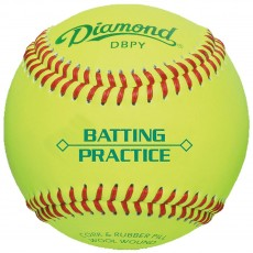 Diamond DBPY Yellow Batting Practice Baseballs, dz