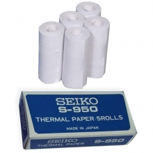 Seiko S950 Thermal Paper Roll for Stopwatch Printer, 5 pk