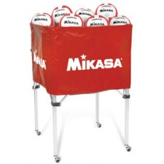 Mikasa BCSPSH Volleyball Cart, RED