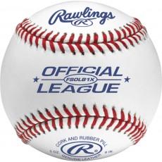Rawlings FSOLB1X Flat Seam Official League Baseballs, dz w/NOCSAE Stamp