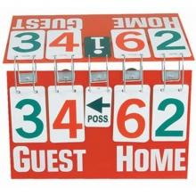 """Flip-A-Score Scoreboard, 21"""" W x 12"""" H"""