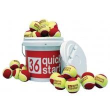Quick Start 36 Oversized Training Tennis Ball Bucket w/ 30 Balls