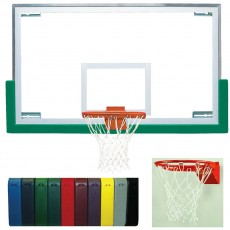 Bison Backboard Rim Package w/ Premium Board