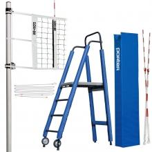 Porter Powr-Rib II INTERNATIONAL Volleyball Net System Package