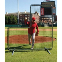 "Pitcher's 7' x 7' Protective ""L"" Screen Frame & Net"